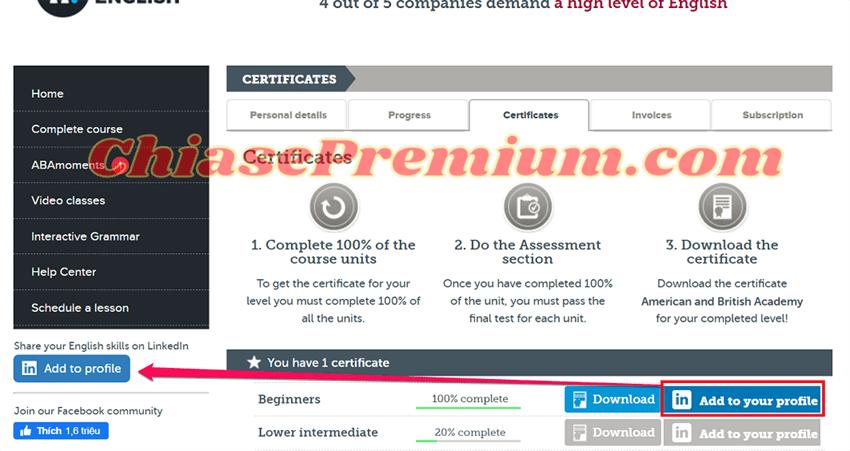 ABA-English-Certificate-on-LinkedIn