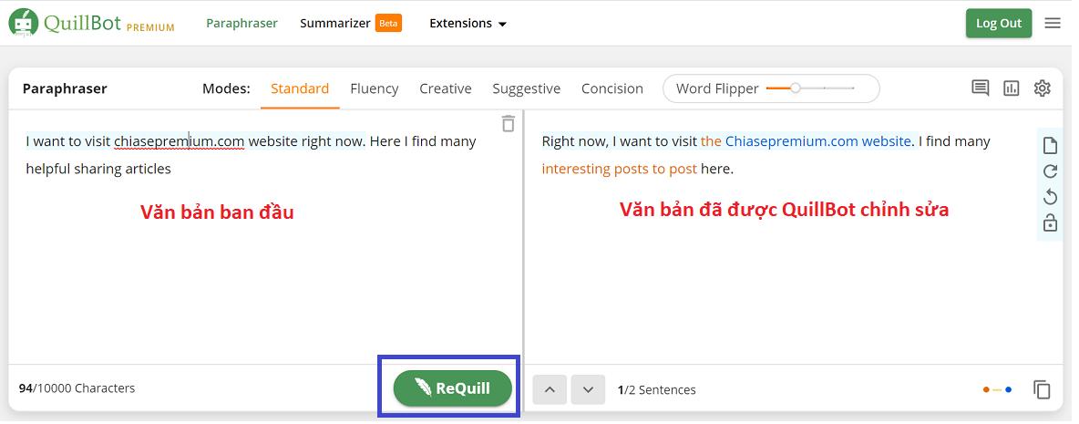 Những thông tin có thể bạn chưa biết về tài khoản Quillbot