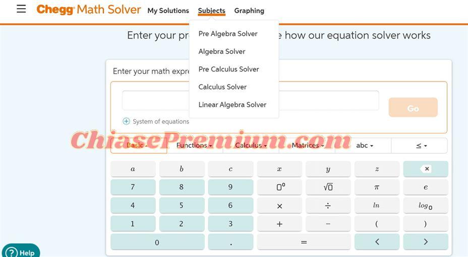 Nếu nhu cầu của bạn là học toán và giải bài tập toán thì nên đăng ký gói Chegg Math