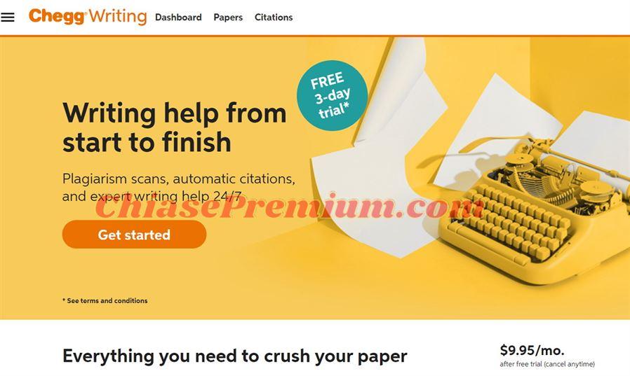 Gói Chegg Writing phù hợp khi bạn làm bài tiểu luận, luận văn, đồ án, check đạo văn...