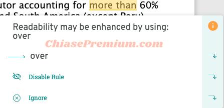 Bạn có thể sử dụng đề xuất chỉnh sửa từ ProWritingAid hoặc không.