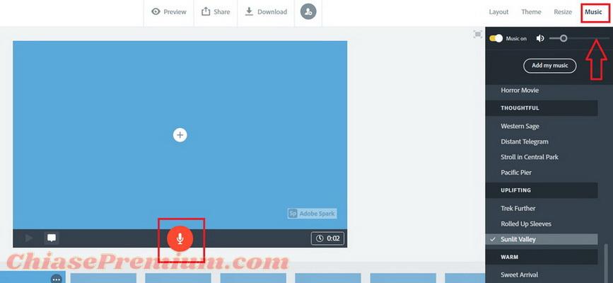 Tạo video với Adobe Spark