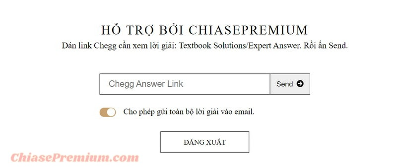 Dịch vụ hỗ trợ Xem đáp án trên Chegg nhanh chóng