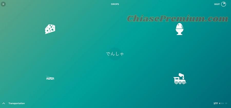 học tiếng Nhật trên Drops Language
