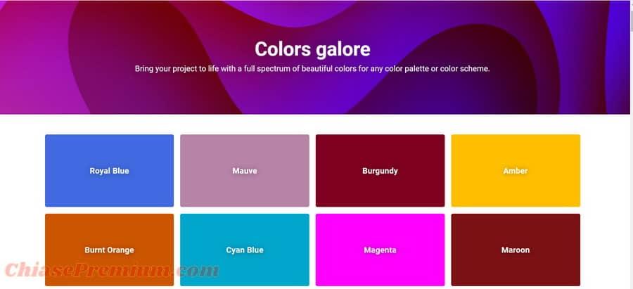 Bảng màu Shutterstock