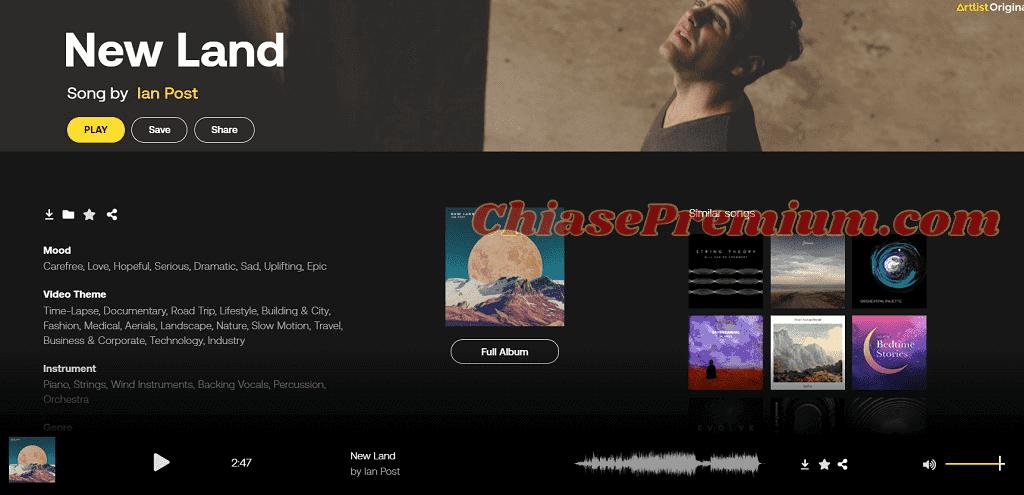 Khi click vào một bản nhạc, người dùng sẽ được điều hướng đến trang thông tin chi tiết của bản nhạc đó.