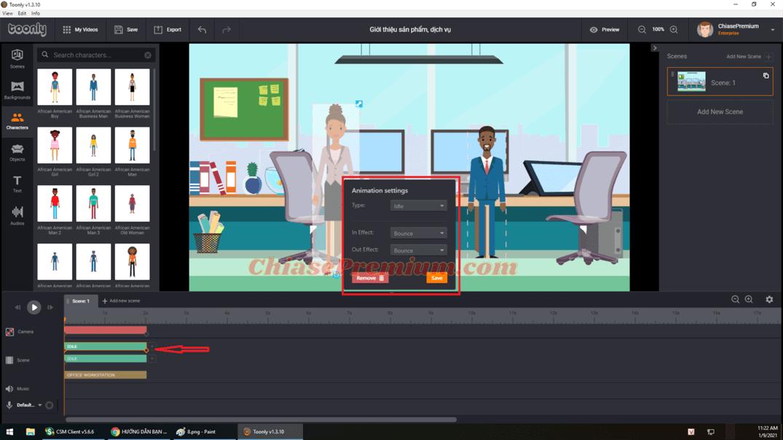 Hướng dẫn cách làm video animation giới thiệu sản phẩm, dịch vụ với Toonly (tiếp theo)