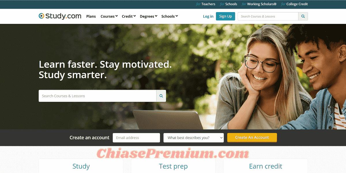 Study.com có giao diện chuyên nghiệp, dễ sử dụng
