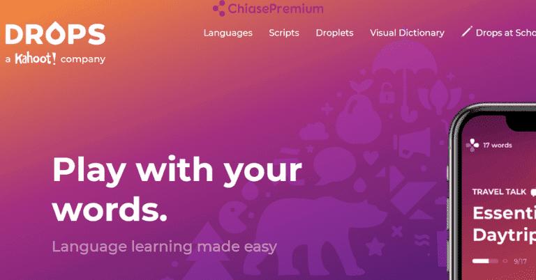 Review ứng dụng học ngoại ngữ Drops