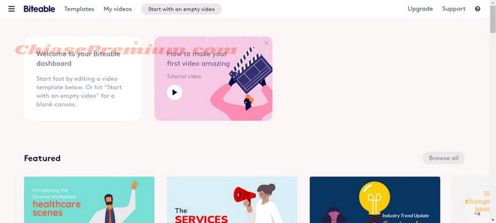 Tài khoản Biteable: công cụ thiết kế video online