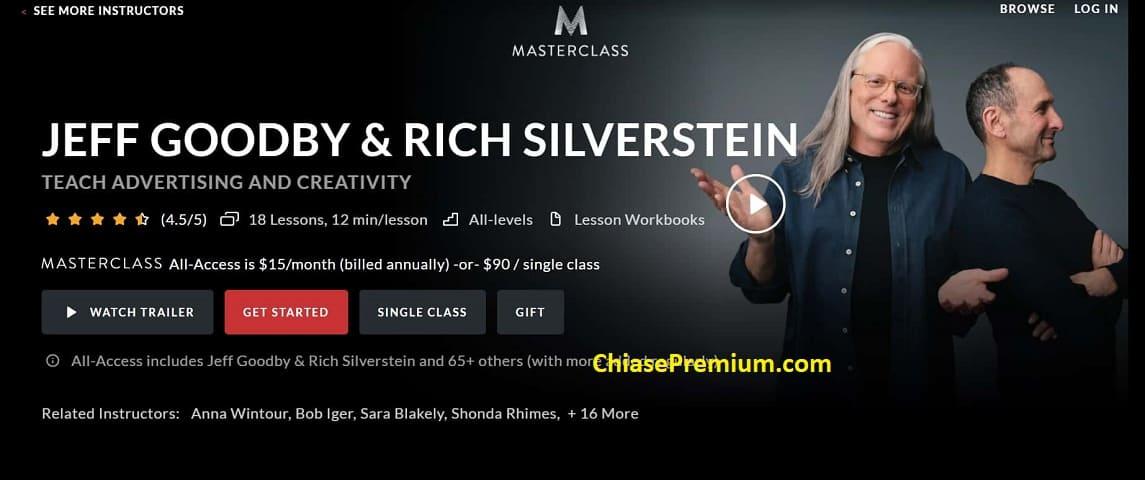 Giảng viên trên MasterClass hầu hết là chuyên gia sáng tạo hàng đầu