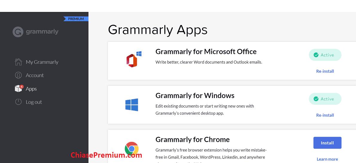 Bạn có thể sử dụng tài khoản Grammarly Premium trên nhiều môi trường khác nhau.