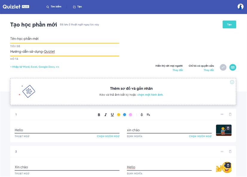 Review ứng dụng Quizlet & chia sẻ tài khoản Quizlet Plus