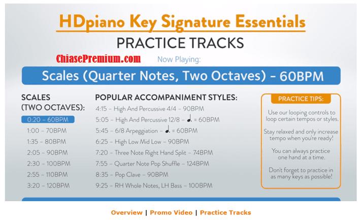 Tính năng Key Signature Essentials trên tài khoản HDpiano