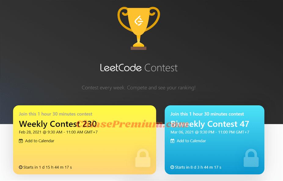 LeetCode contest