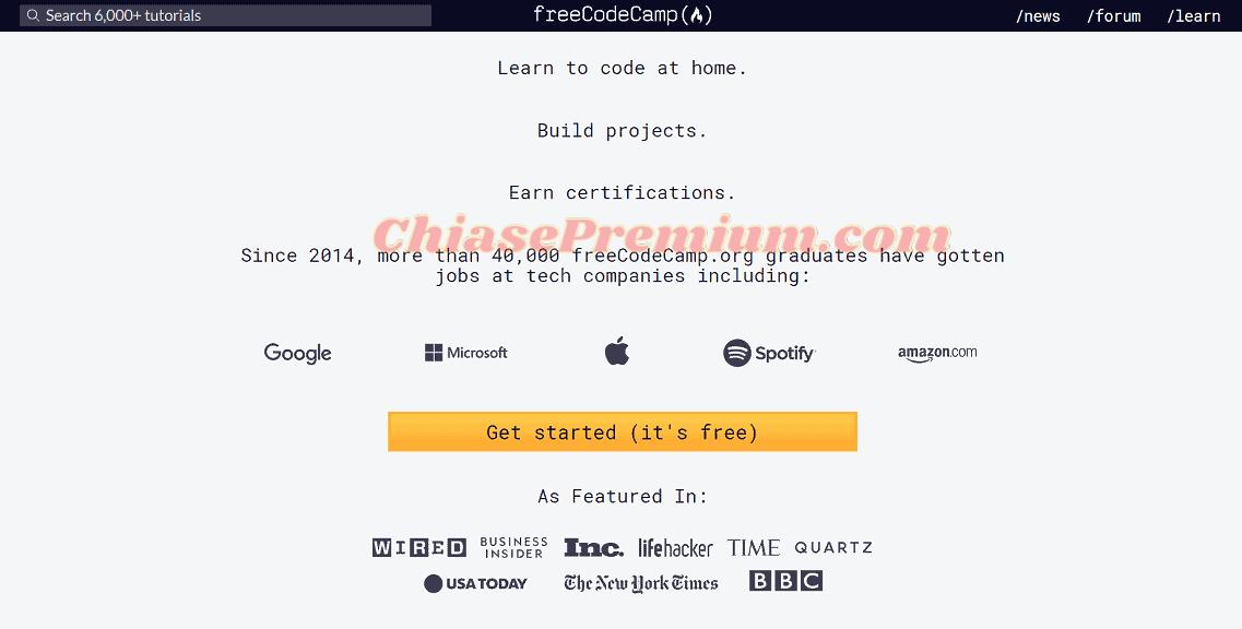 FreeCodeCamp là một nơi tuyệt vời để bắt đầu nếu bạn không có kinh nghiệm về lập trình