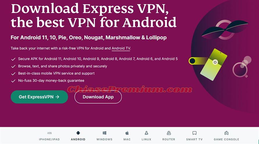 Sử dụng hỗ trợ ExpressVPN