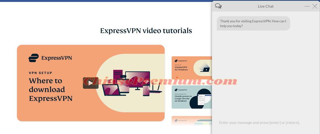 Dịch vụ hỗ trợ khách hàng ExpressVPN