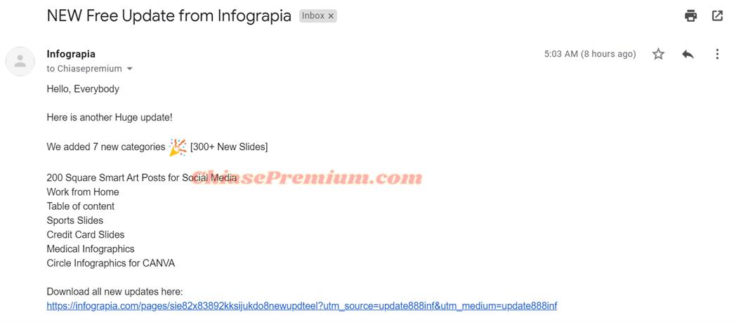 Infograpia vừa có một đợt cập nhật lớn
