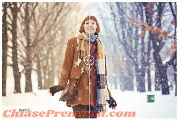 TUYẾT - SNOW: Freebie là plug-in miễn phí của Pixlr
