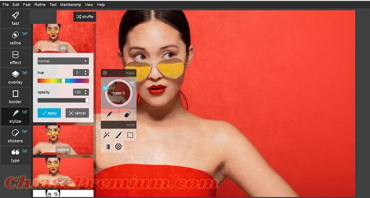 Các tính năng chỉnh sửa nâng cao trên tài khoản Pixrl Pro