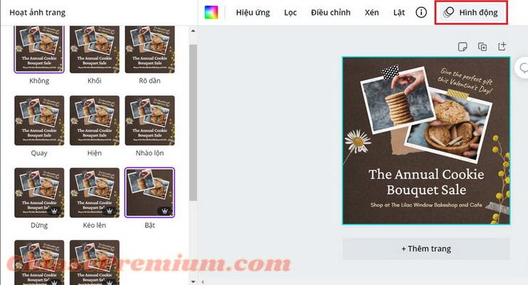 Adobe Spark vs Canva: Hiệu ứng động