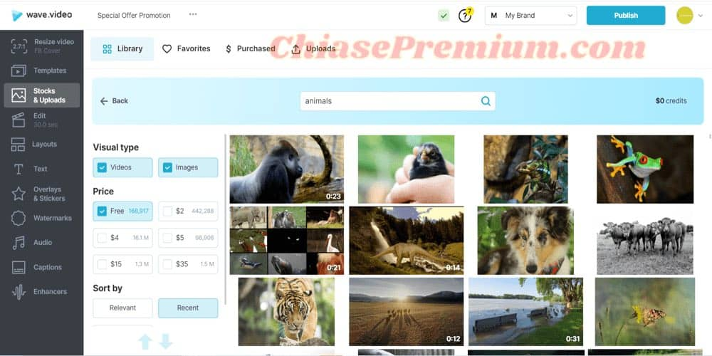 Create video with 200 million free videos, images from 8 stock providers