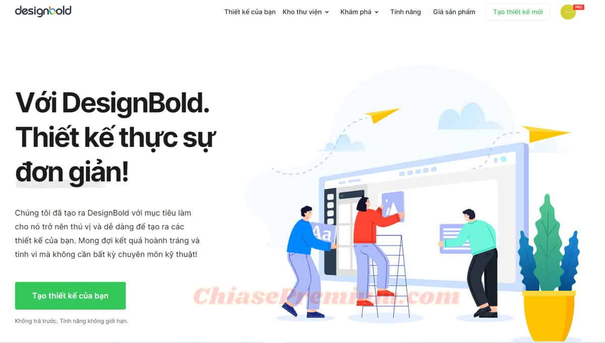 DesignBold - online graphic design tool