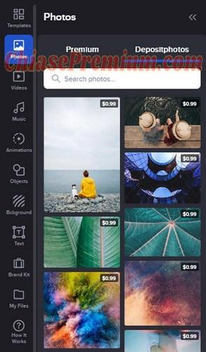 Crello sử dụng kho hình ảnh phong phú từ Depositphotos
