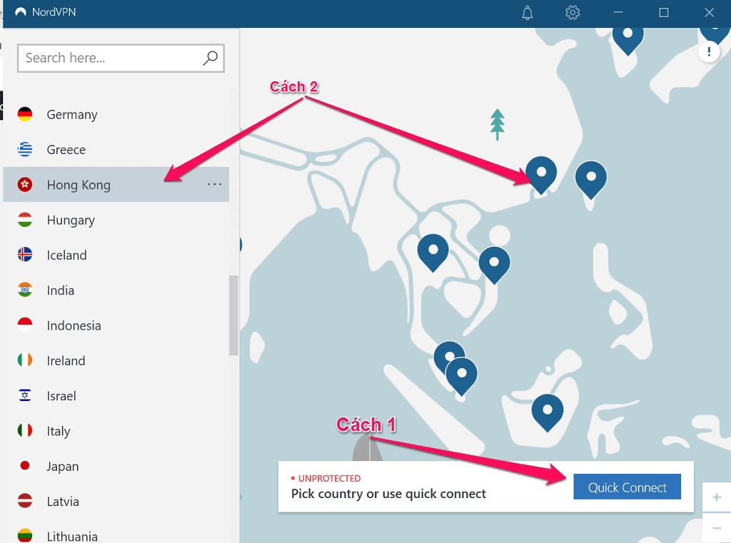 Cách thay đổi IP và vị trí của bạn bằng NordVPN