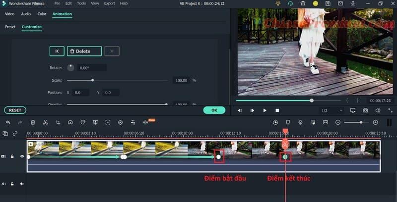 Xác định điểm bắt đầu và điểm kết thúc - Animation Keyframing