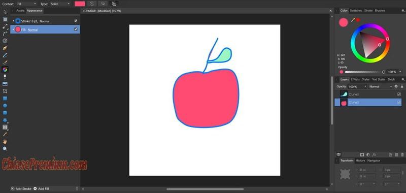 Công cụ Fill Tool đổ màu lên vật thể/ hình ảnh bạn vừa tạo ra
