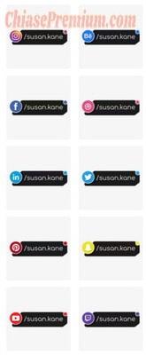 InVideo có tất cả icon của các mạng xã hội kèm hiệu ứng nổi bật