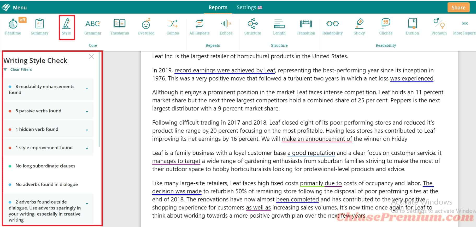 Báo cáo Style giúp định hình phong cách viết của bạn