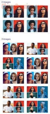 Tính năng Collage cho phép bạn tạo video lớn từ những video con khác nhau