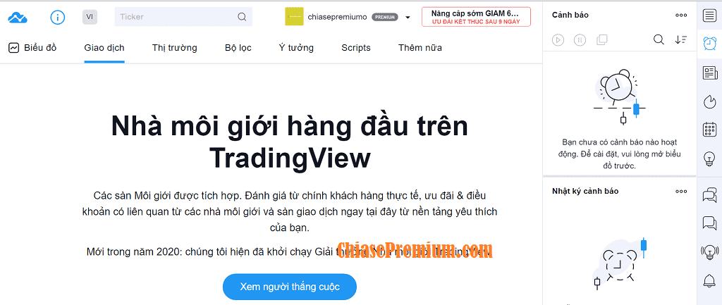 Danh sách giao dịch uy tín trên TradingView