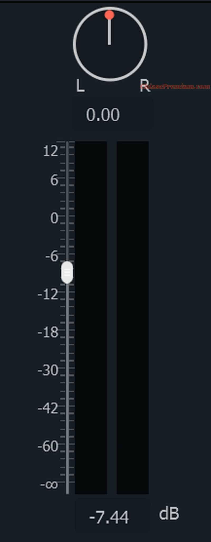 Điều chỉnh âm lượng với thước âm lượng