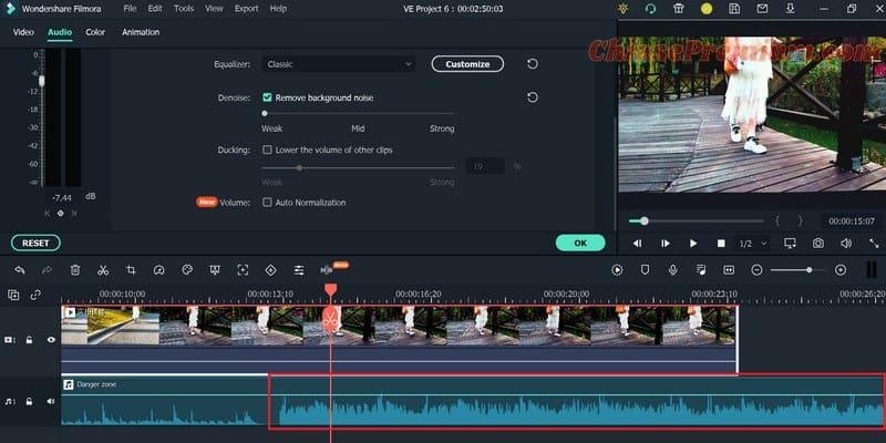 Review tính năng Ducking trên Filmora X