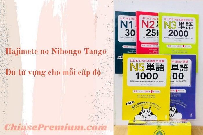 Bộ sách học từ vựng tiếng Nhật