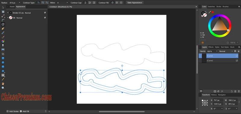 Contour Tool sẽ giúp bạn tạo ra bản sao