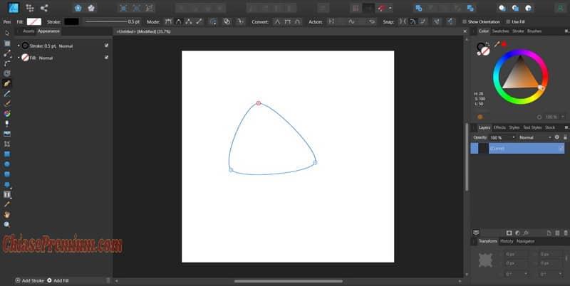 Công cụ Pen Tool để vẽ chi tiết các đường cong và hình ảnh