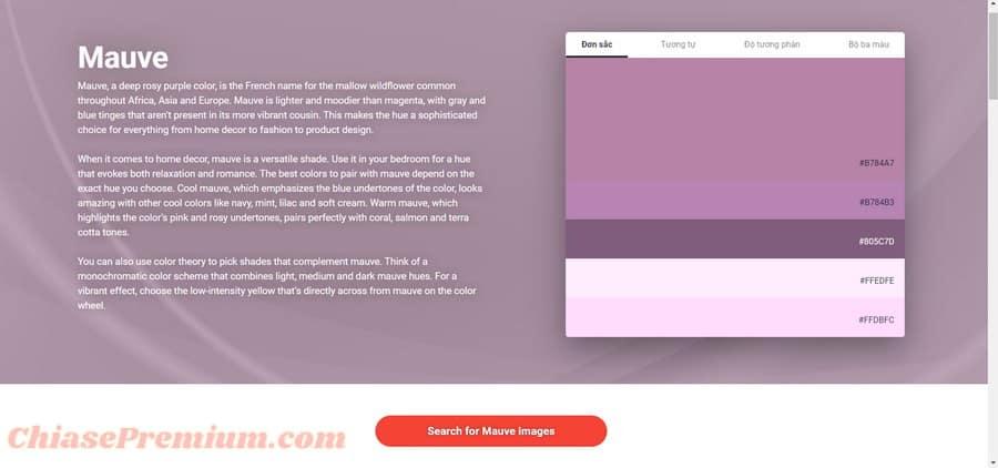 Các màu sắc đa dạng ở Shutterstock