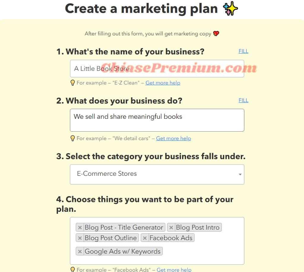 """Tip nhỏ cho phần điền mô tả doanh ở mục 2 là luôn sử dụng một câu hoàn chỉnh bắt đầu bằng """"We…""""."""