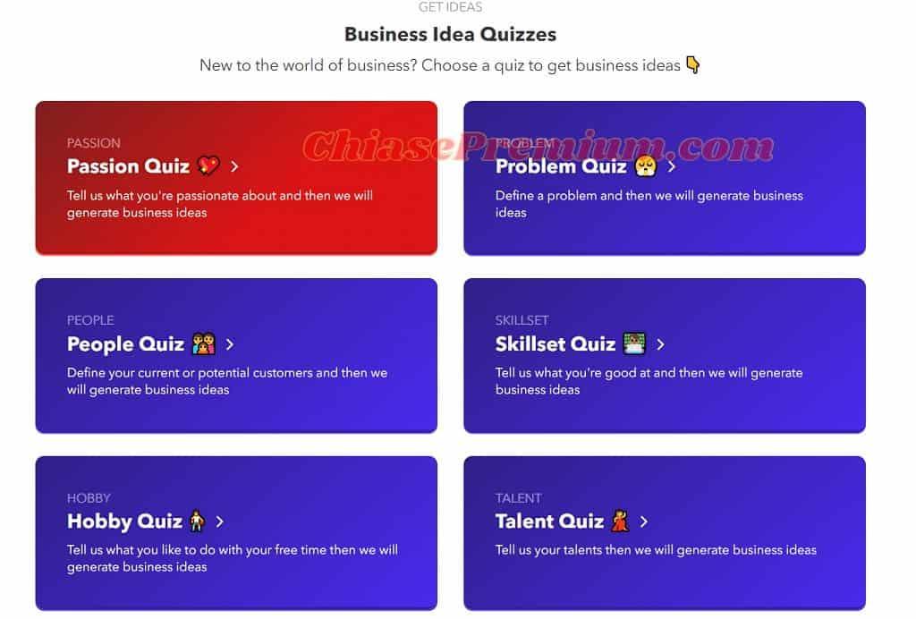 Nitchesss có thể đưa ra những ý tưởng kinh doanh dựa trên 6 khía cạnh mà người dùng cung cấp