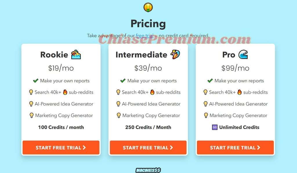 Ba gói chi phí có giá từ $19-$99 (khoảng 440.000-2.300.000VNĐ) mỗi tháng