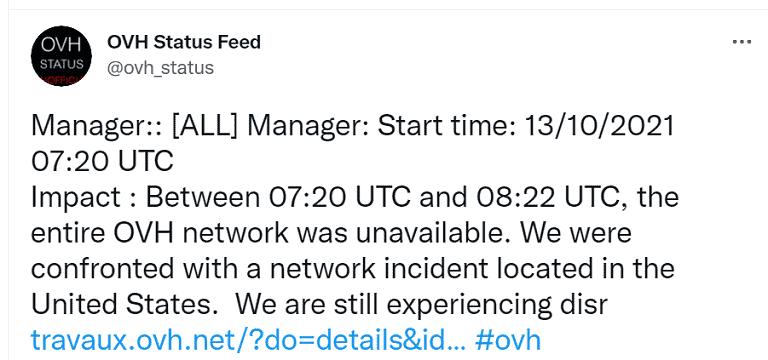 OVH-Microsoft Azure gặp sự cố