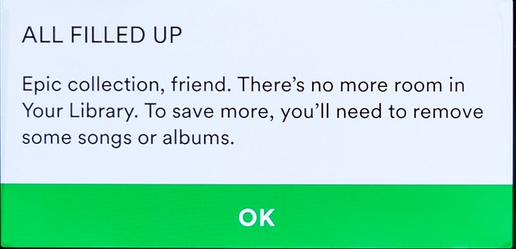 Spotify drops 10,000-song limit on music