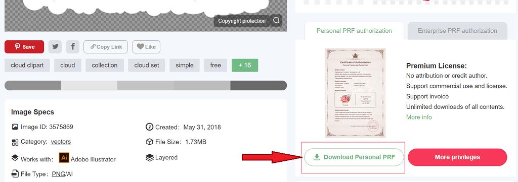 Giấy phép sử dụng hình ảnh - bản quyền PNGtree