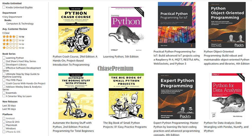 Đây có lẽ là những cuốn sách về Python hay nhất hiện nay.