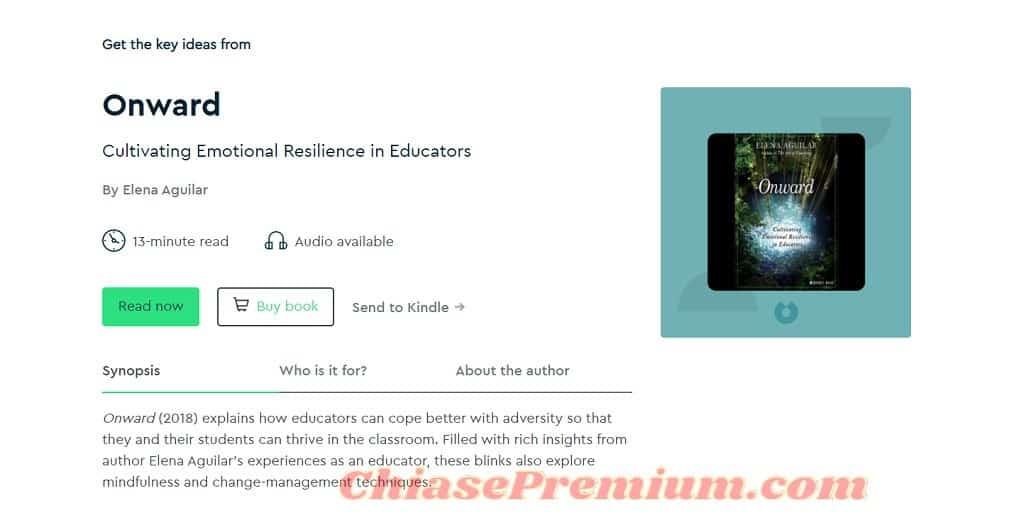 Khi click vào một tựa sách nào đó, bạn sẽ được cung cấp thông tin đầy đủ về nội dung chính, đối tượng và tác giả của quyển sách